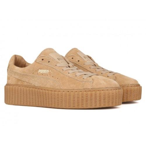 Кросівки Puma Rihanna Suede Creeper Wheat