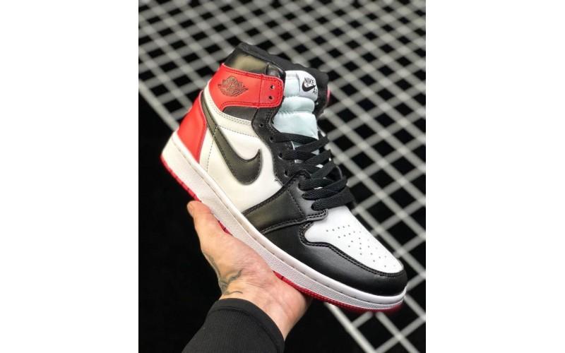Кроссовки Jordan 1 Retro High OG Black Toe 2016 Release