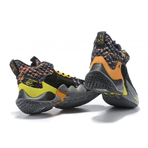 Кросівки Jordan Why Not Zer0.2 Wolf Grey/Orange-Yellow