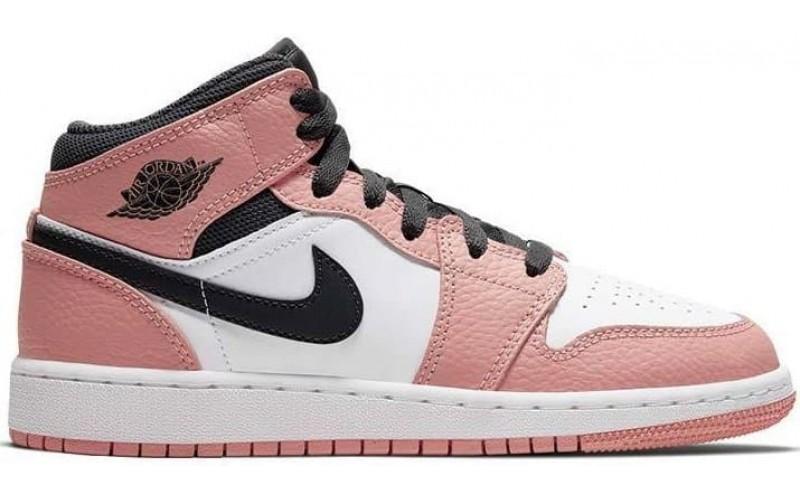 Кроссовки Jordan 1 Retro Mid Pink Quartz