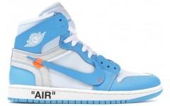 "Мужские кроссовки Jordan 1 Retro High x Off-White ""University Blue"""
