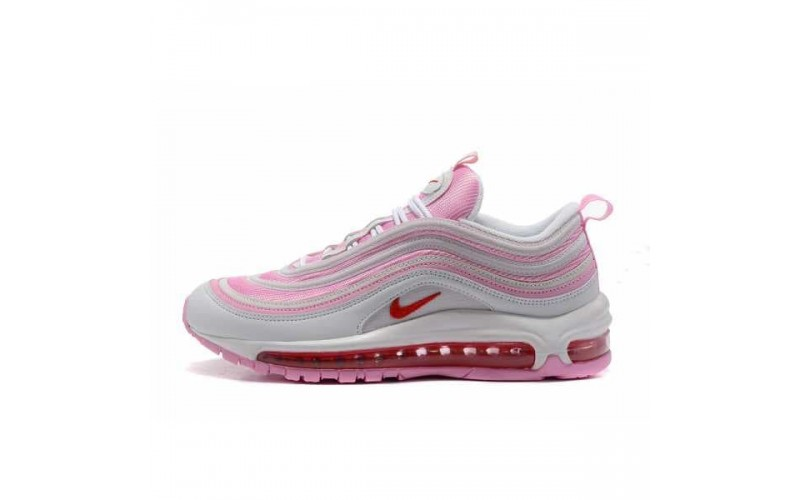 Женские кроссовки Nike Air Max 97 Pink/White 313054-161