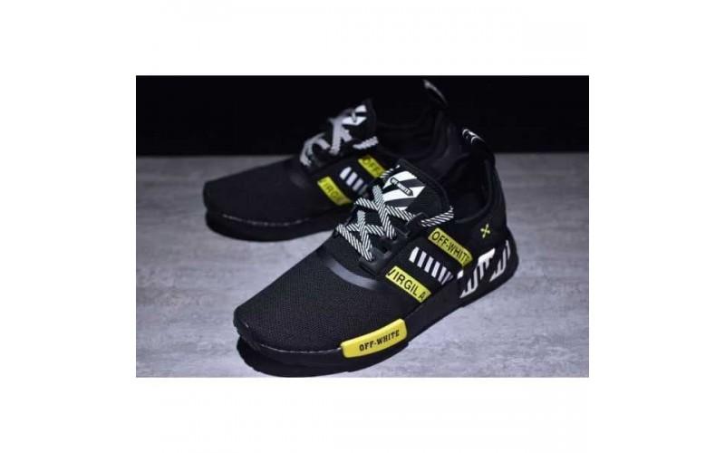 "Мужские кроссовки Adidas NMD x Off-White ""Virgil"" Black/Yellow BA7787"
