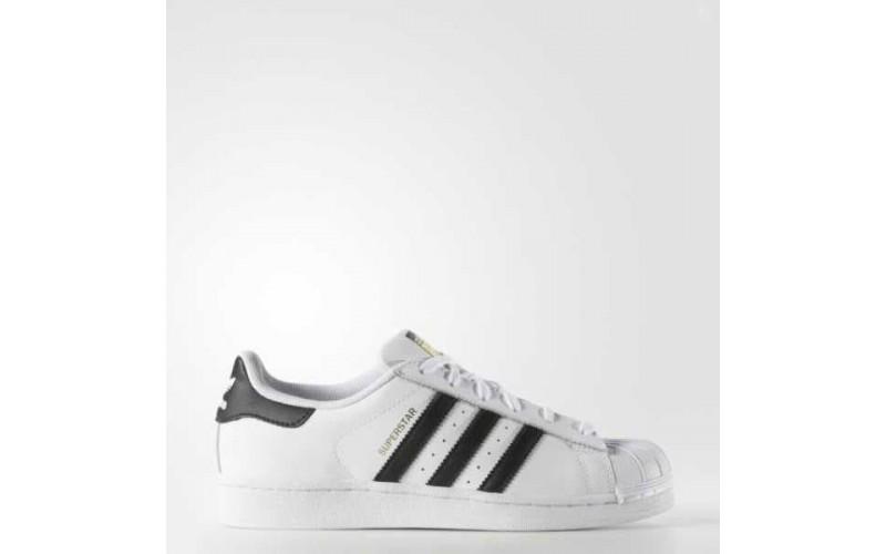 Мужские кроссовки Adidas Superstar White Black C77153