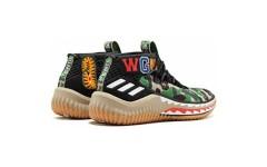 Мужские кроссовки Adidas Dame 4 x Bape Black Camo AP9974