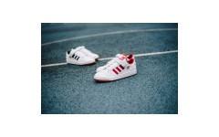 Мужские кроссовки Adidas Originals Forum Low Red/White-Gum B37769
