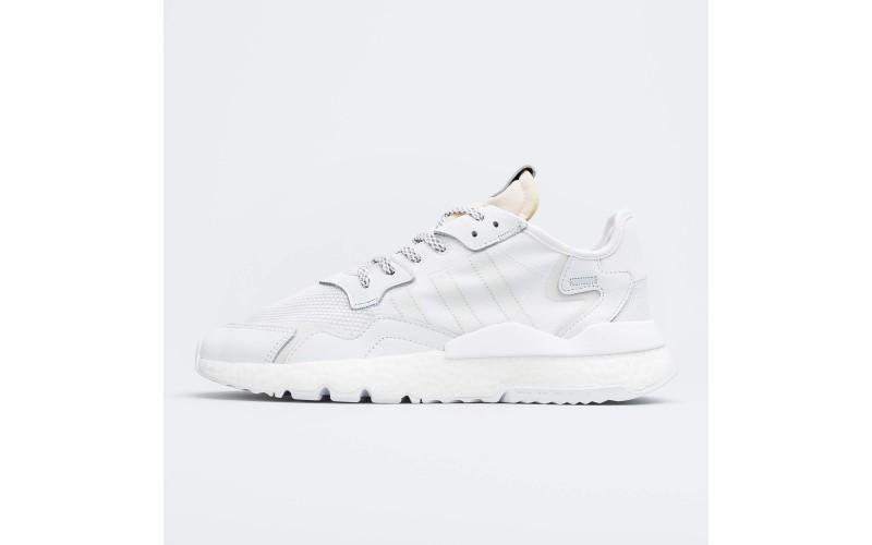 Мужские кроссовки Adidas Nite Jogger Triple White BD7676