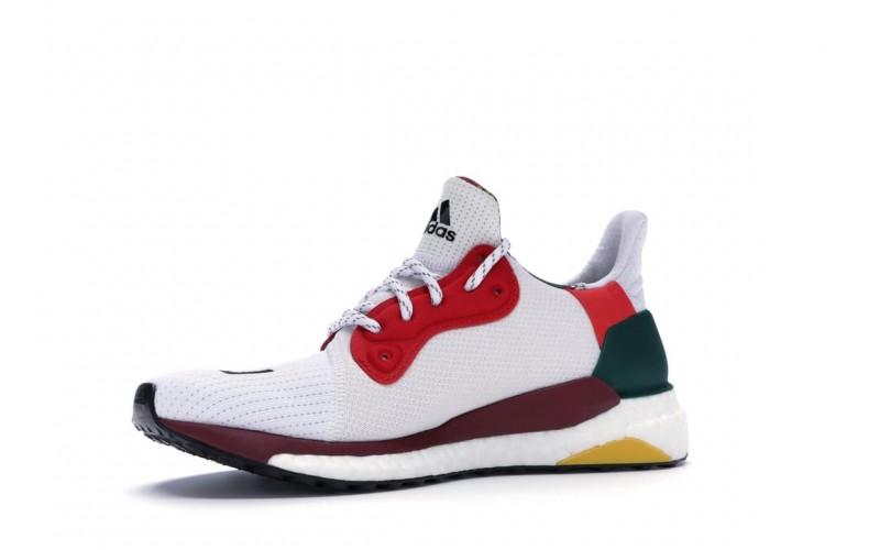 Мужские кроссовки Pharrell Williams x Adidas Solar Hu Glide White Red Yellow CG6776