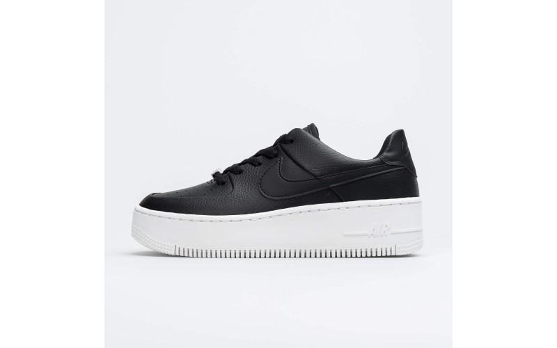 Женские кроссовки Nike Air Force 1 Sage Low Black White AR5339-002