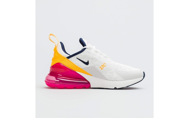 Кроссовки Nike Air Max 270 Laser Fuchsia White Yellow Red AH6789-106