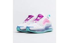 Женские кроссовки Nike Air Max 720 White/Aqua-Pink-Green AR9293-102
