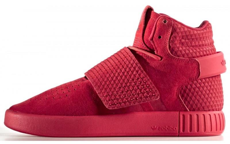 Мужские кроссовки Adidas Tubular Invader Strap Red BB5039