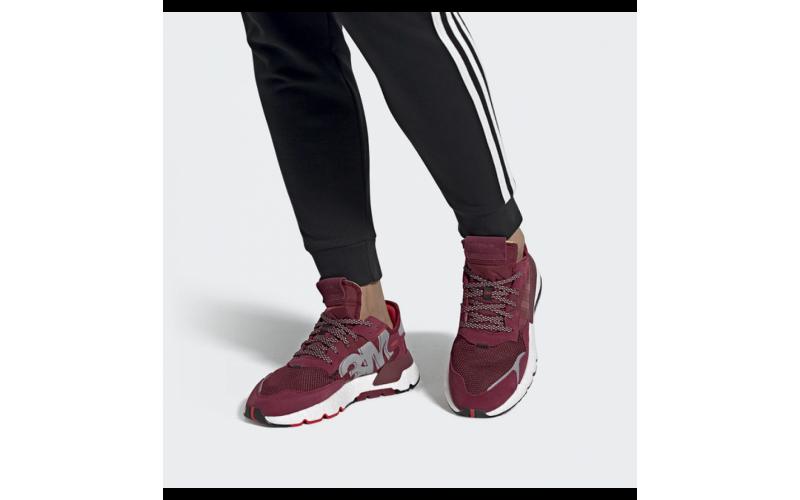 Мужские кроссовки Adidas Nite Jogger Burgundy EE5870