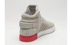 Мужские кроссовки Adidas Tubular Invader Strap Sesame Gray/Red BB5035