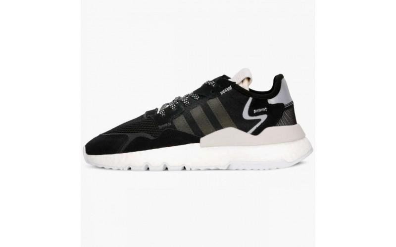 Мужские кроссовки Adidas Nite Jogger Black White CG6253
