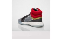 Мужские кроссовки Adidas Marquee Boost Mid Marvel Thor White Grey Red EF2258