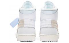 Мужские кроссовки Off-White x Air Jordan 1 Retro High OG White 2018 AQ0818 100