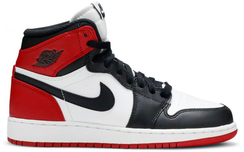 Кроссовки Air Jordan 1 Retro High Black Toe White/Black/Varsity Red 575441-184