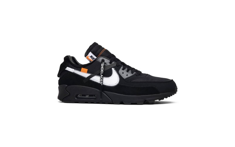 Мужские кроссовки Nike Air Max 90 OFF-WHITE Black - AA7293-001