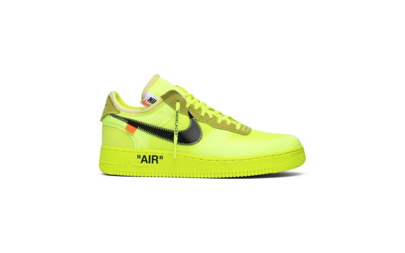Мужские кроссовки Nike Air Force 1 Low Off-White Volt AO4606-700