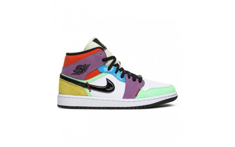 Женские кроссовки Jordan 1 Mid SE Multi-Color (W) - CW1140-100