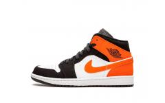 Женские кроссовки Nike Air Jordan 1 Mid Shattered Backboard Black/starfish 554724-058