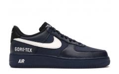 Мужские кроссовки Nike Air Force 1 Low Gore-tex Obsidian - CK2630-400
