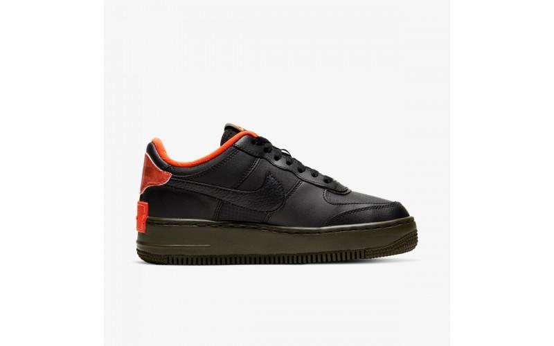 Женские кроссовки Nike Air Force 1 Shadow in Black and Orange Celebrates Halloween CQ3317-001