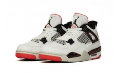 Мужские кроссовки Jordan 4 Retro Flight Nostalgia white/black-bright crimson-pale citron