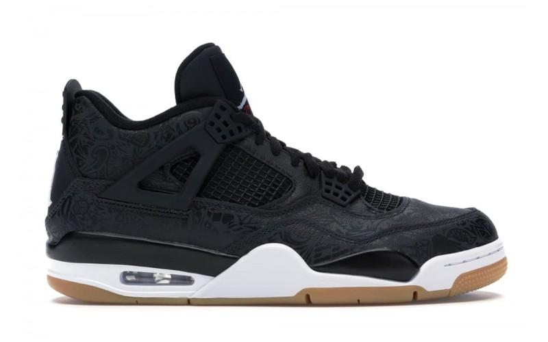 Мужские кроссовки Jordan 4 Retro Laser Black Gum CI1184-001