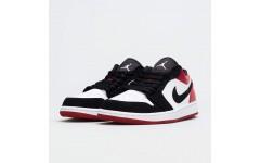 Кроссовки Jordan 1 Retro Low Black Toe 553558-116