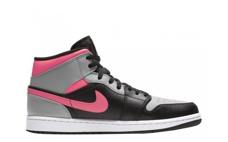 Женские кроссовки  Air Jordan 1 Mid Pink Shadow 554724-059