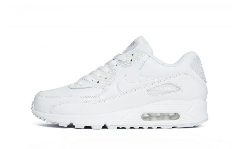 Женские кроссовки Nike Air Max 90 Leather White (302519-113)