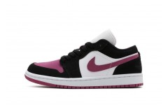 Женские кроссовки Air Jordan 1 Low White Black Pink(DC0774-005)