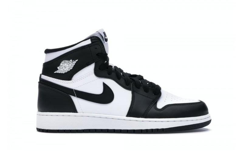 Мужские кроссовки Air Jordan 1 Retro High OG Black White 575441-010