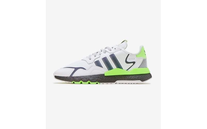 Мужские кроссовки Adidas Nite Jogger Cloud White Signal Green - EG6749