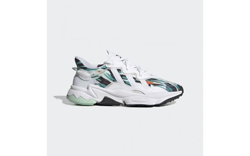 Кроссовки Adidas Ozweego Geometric Jungle Print White - FZ4089