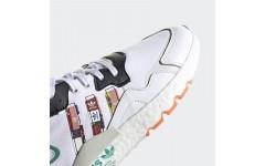 Мужские кроссовки 2020 Adidas Nite Jogger Boost Grey Black Green FX3811
