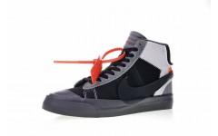 Мужские кроссовки Off-White x Nike Blazer Mid Wolf Grey AA3832-008
