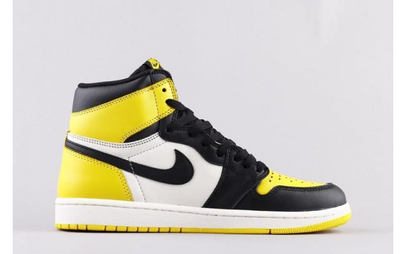 Мужские кроссовки Air Jordan 1 Retro High Yellow Toe AR1020-700
