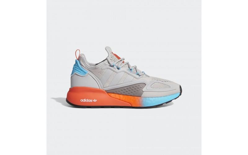 Мужские кроссовки Adidas Zx 2k boost Grey Two Signal Cyan FY0606