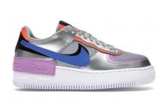 Женские кроссовки Nike Air Force 1 Shadow Metallic Silver - CW6030-001