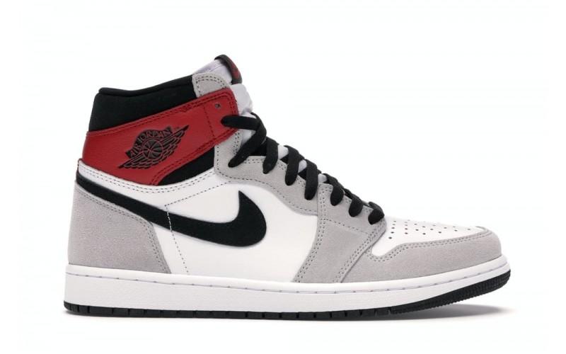 Мужские кроссовки Jordan 1 Retro High Light Smoke Grey 555088-126