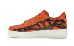 Мужские кроссовки Nike Air Force 1 Low Orange Skeleton - CU8067-800