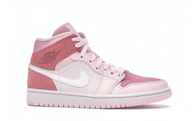 Женские кроссовки Jordan 1 Mid Digital Pink CW5379-600