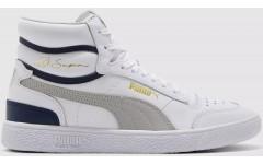 Мужские кроссовки Puma Ralph Sampson Mid White-Gray Violet-Peacoat 37084704