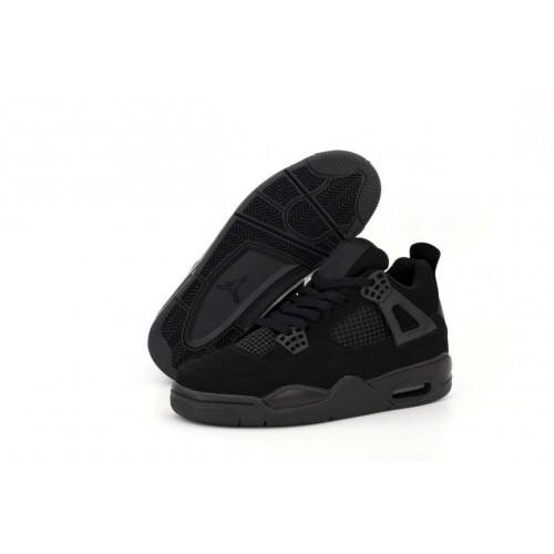 Мужские кроссовки Air Jordan 4 Retro Black Cat CU1110-010