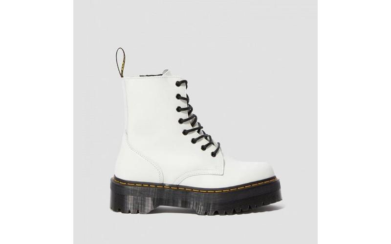 Женские ботинки Dr. Martens Jadon Platform Boots White Polished Smooth 15265100