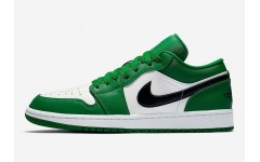 Женские кроссовки Air Jordan 1 Low Pine Green (GS) - 553560-301