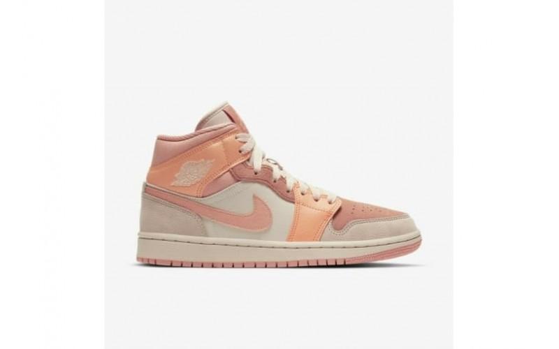 Женские кроссовки Jordan 1 Mid Apricot Orange DH4270-800